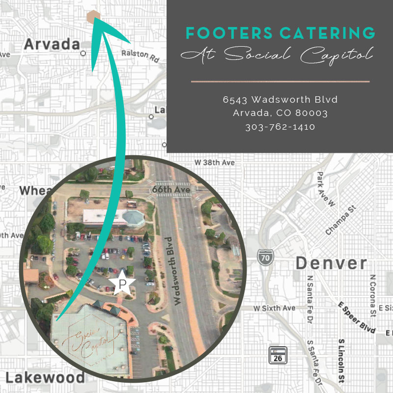 Footers Catering Map