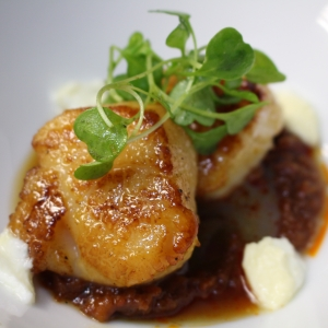 Plated Scallop Entree